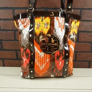 TORY BURCH Betty Ikat Print Quilted Tote Bag